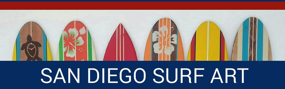 Surfboard Wall Art san diego surf art - custom surfboard wall art